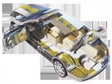 Selon les zones de la carrosserie de l'auto